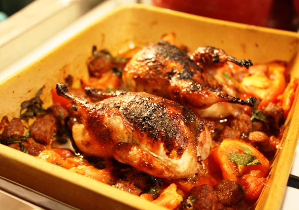 Head-on Quail, a metaphor in recipe? | A Trail of Crumbs
